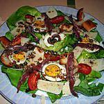 recette Salade aux croûtons à l'italienne