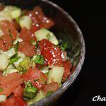 recette Salade marocaine concombre et tomates