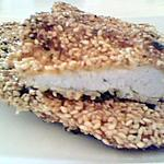 recette Escalopes de poulet panés à la chapelure de graines de sésame et persil