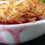recette Cerises caramélisées et son crumble croquant coco