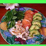 recette Salade de médaillons de langouste au pamplemousse