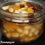 recette Tartare de fruits façon orientale