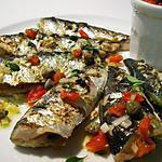 Sardines grillées, vinaigrette tomates séchées, câpres & thym citron...