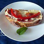 recette Tartine camembert/jambon de Bayonne