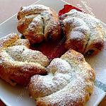 recette douillons crème d'amande et raisins aux rhum