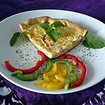 recette Quiche saumon/féta/poivrons