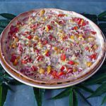 recette Pizza gruyère/poivrons/bacon