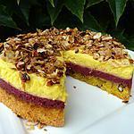 recette Trio aux amandes-framboises-mascarpone