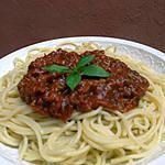 recette Spaghettis sauce bolognaise