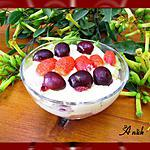 "recette Tiramisu "" lemon curd fraises et cerises """