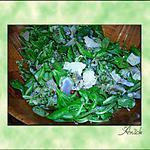 recette Salade de mâche et artichauts - pesto persil-amandes