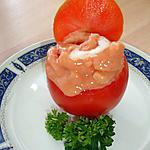 recette Tomate Cocktail Crevettes Pommes dans une tomate
