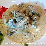 recette émincé de poulet crème de parmesan