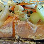recette Pavé de saumon aux petits légumes