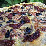 recette Pizza à la pâte d epomme de terre et garniture du sud