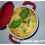 recette Clafoutis de courgettes au boursin et chèvre