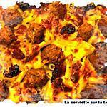 recette Gratin de pennes mozzarella aux petites boulettes de boeuf.