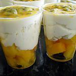 recette verrine mangue passion