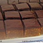 recette Carrés chocolat - noisettes - orange
