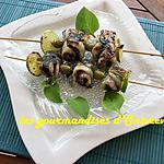 recette Brochettes de filets de julienne en tapenade