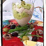 Verrines guacamole et rillettes de thon de Siaskas