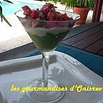 recette Verrine tomate-avocat-chèvre