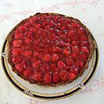 recette tarte aux fraises à l'amande et creme à la vanille