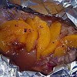 recette papillotte de canard aux peches