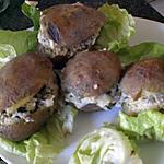 recette Pommes de terre farcies aux champignons