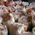 recette Pain de mie roulé au saumon