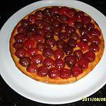 recette TARTE AUX CERISES/CREME PATISSIERE