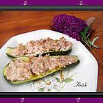 recette Courgettes farcies au jambon ,boursin et couscous parfumé