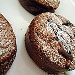 recette Mes petits gâteaux :coeur fondant chocolat et banane