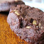 recette Cookies sablés double choc' aux pignons
