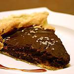Tarte au chocolat et éclats d'amandes