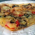 recette Tarte fine aux poivrons et aubergine