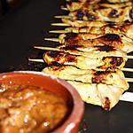 recette brochettes de poulet, sauce aux cacahuètes