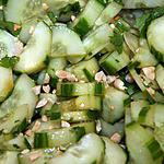 recette salade de concombre à l'asiatique
