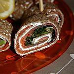 recette roulés de saumon