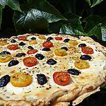 recette Pizza aux olives-tomates cerises et chèvre