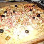recette pizzas blanche