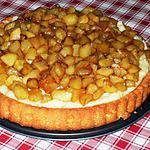 recette Pommes Caramélisées à la Cannelle Crème Patissière vannillée sur Fond de tarte