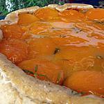 recette Ooo Tatin d'abricots au romarin, pâte brisée noisette ooO