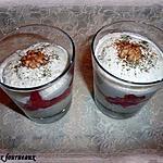 recette Verrine de mousse de concombre au chèvre, aux noix et ses dès de tomates