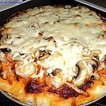 Pizza aux crevettes et pesto