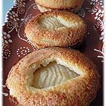 recette Tartelettes poires-amandes sans pâte