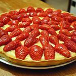 recette Tarte aux fraises et à la crème patissière à la vanille