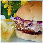 recette Burgers de porc barbecue et salade de chou