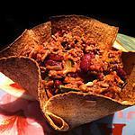 recette Chili Con Carne 0%MG en bol Tacos !