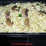 recette Orzo aux champignons